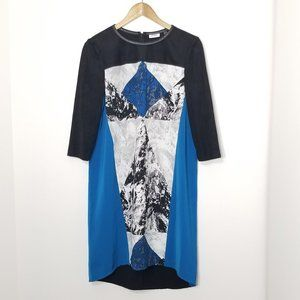 DKNYC | Colorblock Shift Dress Size Small Blue